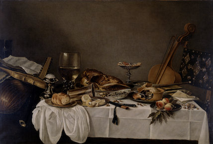 Still Life on a Table with Musical Instruments