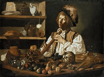 Interior with a young Man holding a Recorder, c. 1610 -  1621