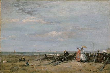A Beach Scene at Trouville