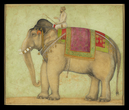 Royal elephant with mahout