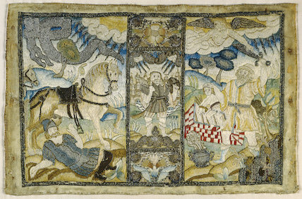 Book cover with Biblical scenes, mid-17th century