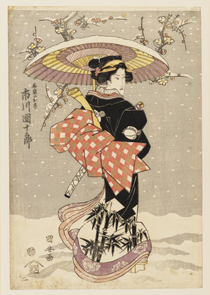 Woodblock print  - The actor, Onoe Kikugoro, as a woman