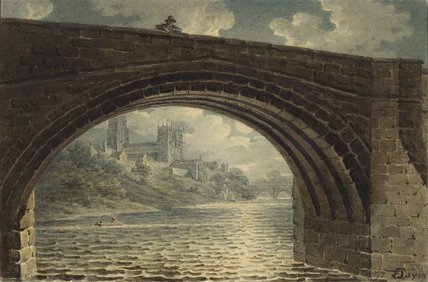 Durham Cathedral seen through an Arch of Ralph Flambard's Bridge