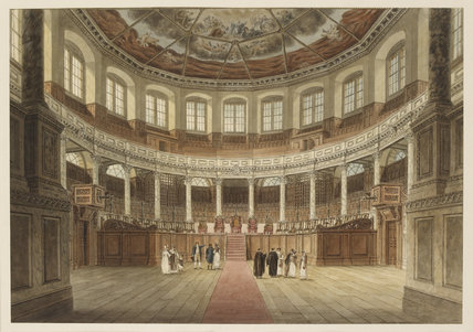 The Sheldonian Theatre, Oxford: Oxford Almanack for 1820