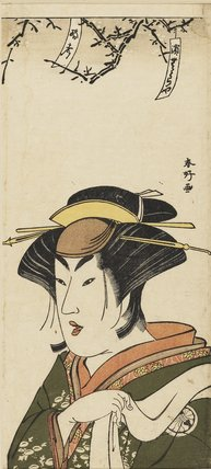 Bust portrait of Segawa Kikujiro as a woman.