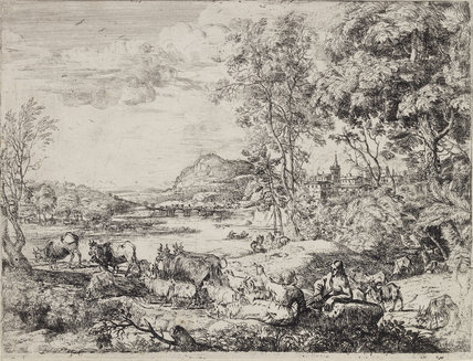 Shepherd and Shepherdess Conversing in a Landscape