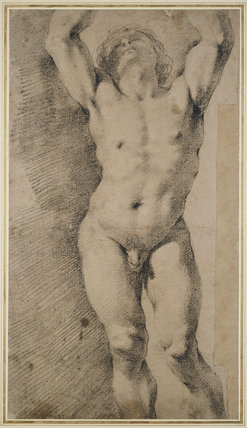 Study of a Nude with Arms Raised