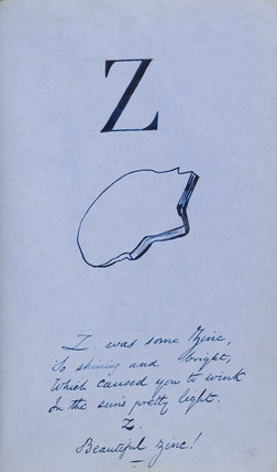 Nonsense Alphabet - Z by Edward Lear at Ashmolean Museum