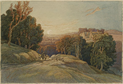 Sunset in the Cotswolds, 1936
