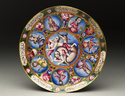 Saucer with astrological decoration