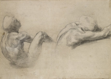 Recto: Two nude Studies