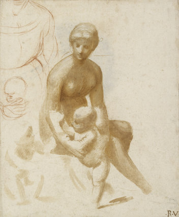 St JohnStudies for a Virgin and Child with the Infant St John