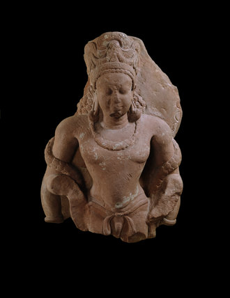 Fragmentary standing figure of Vishnu