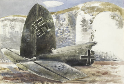 Tail of a German Plane (Under the Cliff), 1940