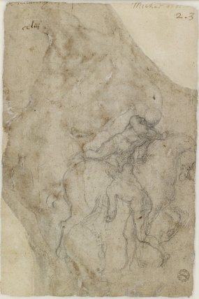 Verso: Two male Nudes and a Horse