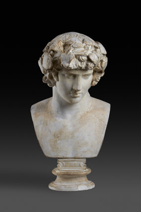 Portrait bust of Antinoos. From Rome, AD 130-138