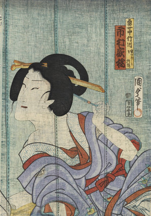 Ichimura Kakitsu as the maid (okujochu) Takegawa (in truth Subashiri Okuma)