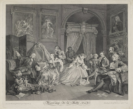 Marriage A La Mode, Plate 4 (The Toilette)