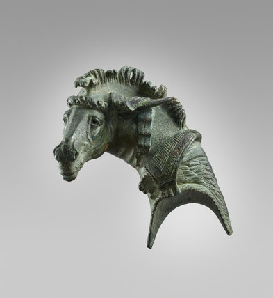 Head of a mule from a bronze fulcrum