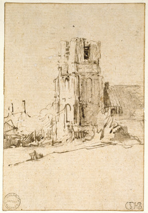 Recto: The Church of Ransdorp in Waterland
