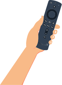 hand with a tv remote