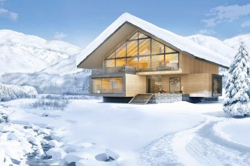 These chalets are offered in the planning stages currently and because of the amount of customizability, the price range varies depending on the preferences of the owner. Photo: Andermatt Swiss Alps