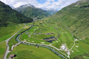 With an area of around 1.3 million square meters, and stretching over six kilometers, this international championship standard course is both a challenge, and an opportunity to take some time to enjoy both the valley's natural beauty, and the ecological construction of the course itself. Photo: Andermatt Swiss Alps