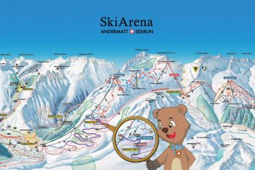 Gemsstock and Nätschen mountains are now being combined, through the construction of over a dozen new ski lifts, to form the SkiArena Sedrun Andermatt.