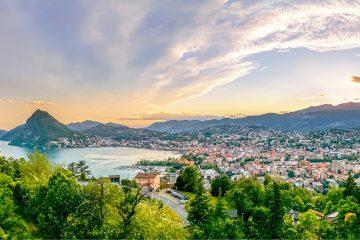 View on Lugano, Ticino, Switzerland