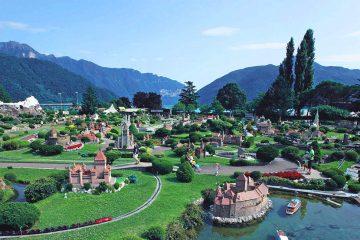 Swissminiatur museum in Melide, Ticino.