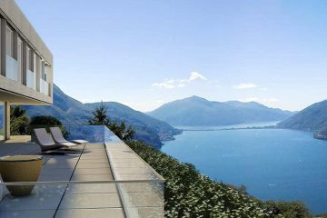 The new residence Window Lake overlooking the lake is located a few minutes away from Lugano on the slopes of Monte Bre in Aldesago.