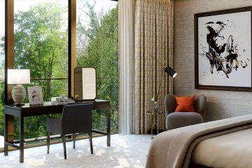 Holland Park Villas. Bedroom. Kensington.