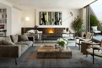 Burlington Gate residence. Mayfair. Living room