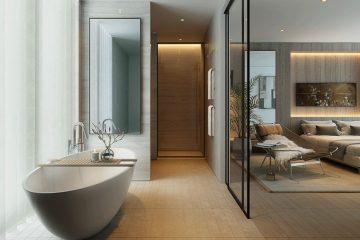 Burlington Gate residence. Mayfair. Bathroom