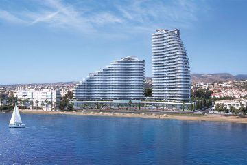 Limassol Del Mar offers exclusive seafront properties located in the 27-story building.
