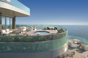 The large balconies of apartments by the beach will offer never-ending views while full height glazing will seamlessly merge the interior with the exterior, adding to the immense sense of space.