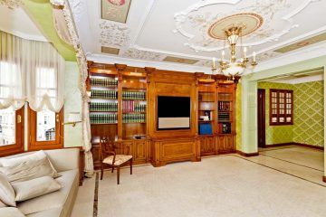 Apartment in Winter Palace, interior, living room with library