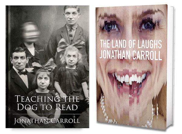 Diseño de portadas por Ryder Carroll para Jonathan Carroll