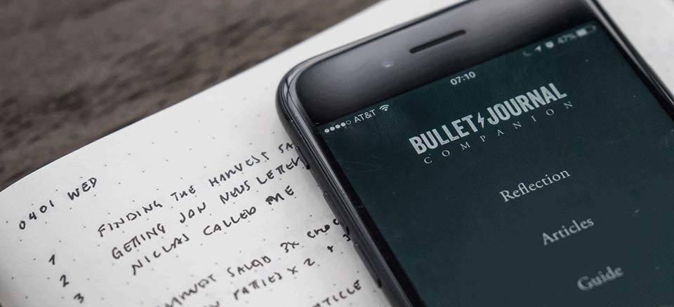 bullet journal companion app