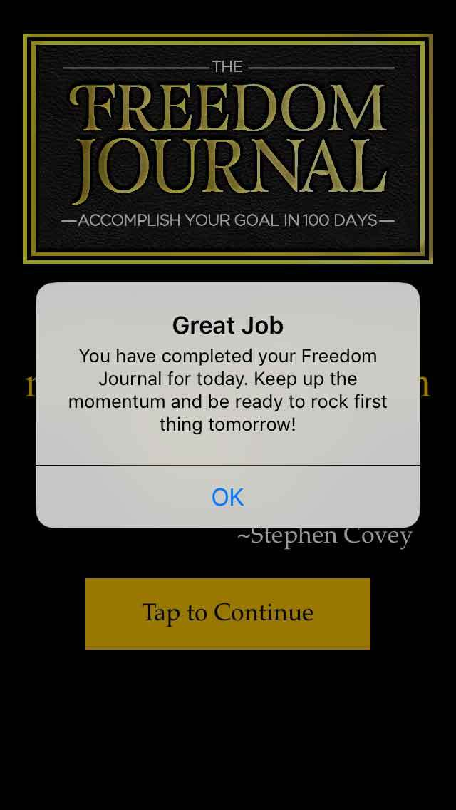 FreedomJournalApp-notification
