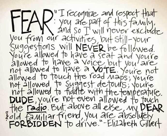 elizabeth gilbert carta al miedo