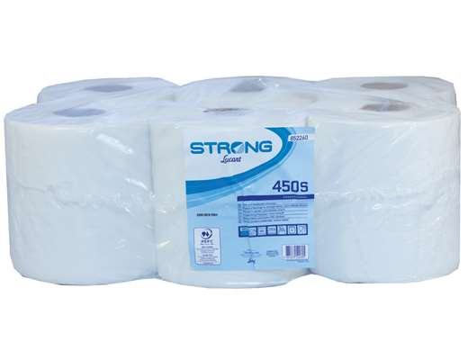 Strong Centrefeed Roll 2 Ply White