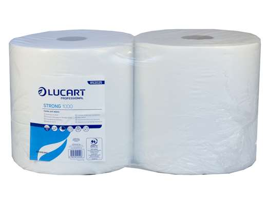 White 1000 Sheet 2 Ply Wiping Roll