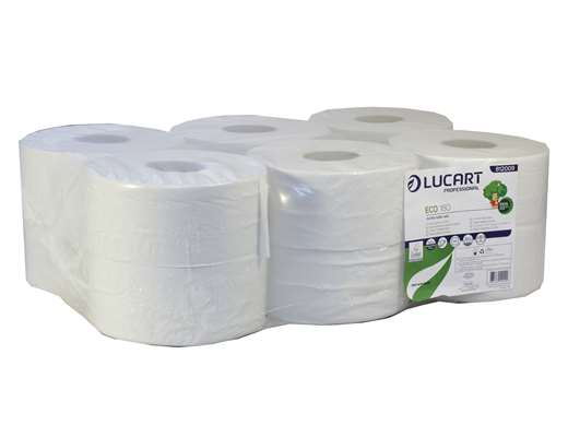 Eco Mini Jumbo 2 Ply White Toilet Tissue
