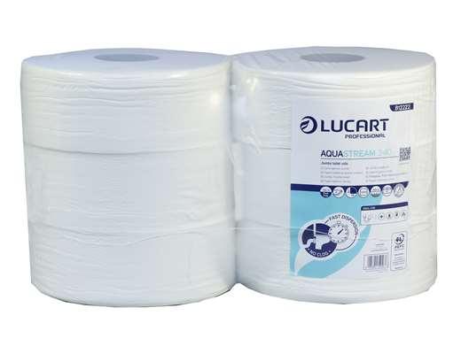 AquaStream White Jumbo  2 Ply Toilet Tissue