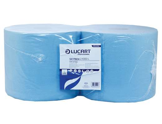Blue 2 Ply Wiping Roll