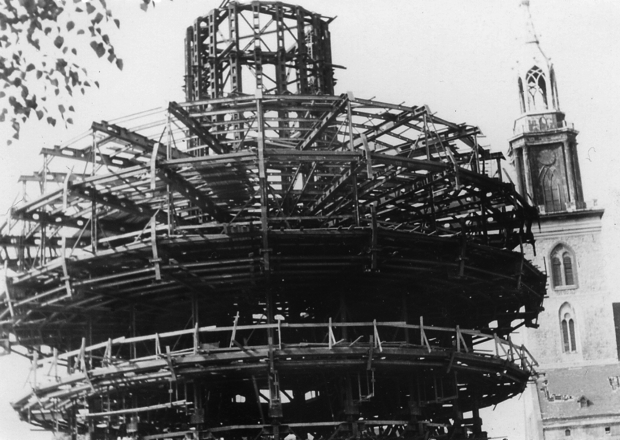 Берлинская телебашня строительство