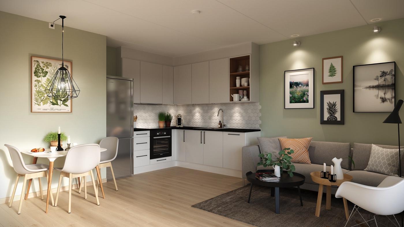 Investér i din første leilighet og velg blant et godt utvalg av smarte 1- og 2-roms.