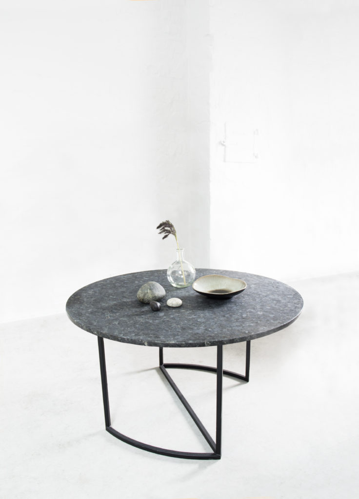 Jaa coffe table with Lundhs Emerald. From Ygg and Lyng design