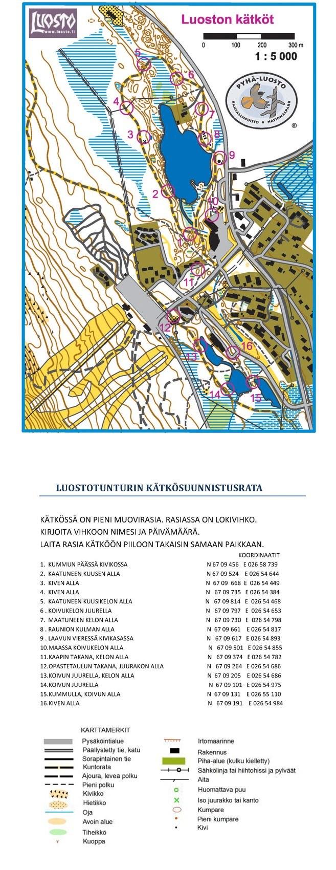 Luosto map